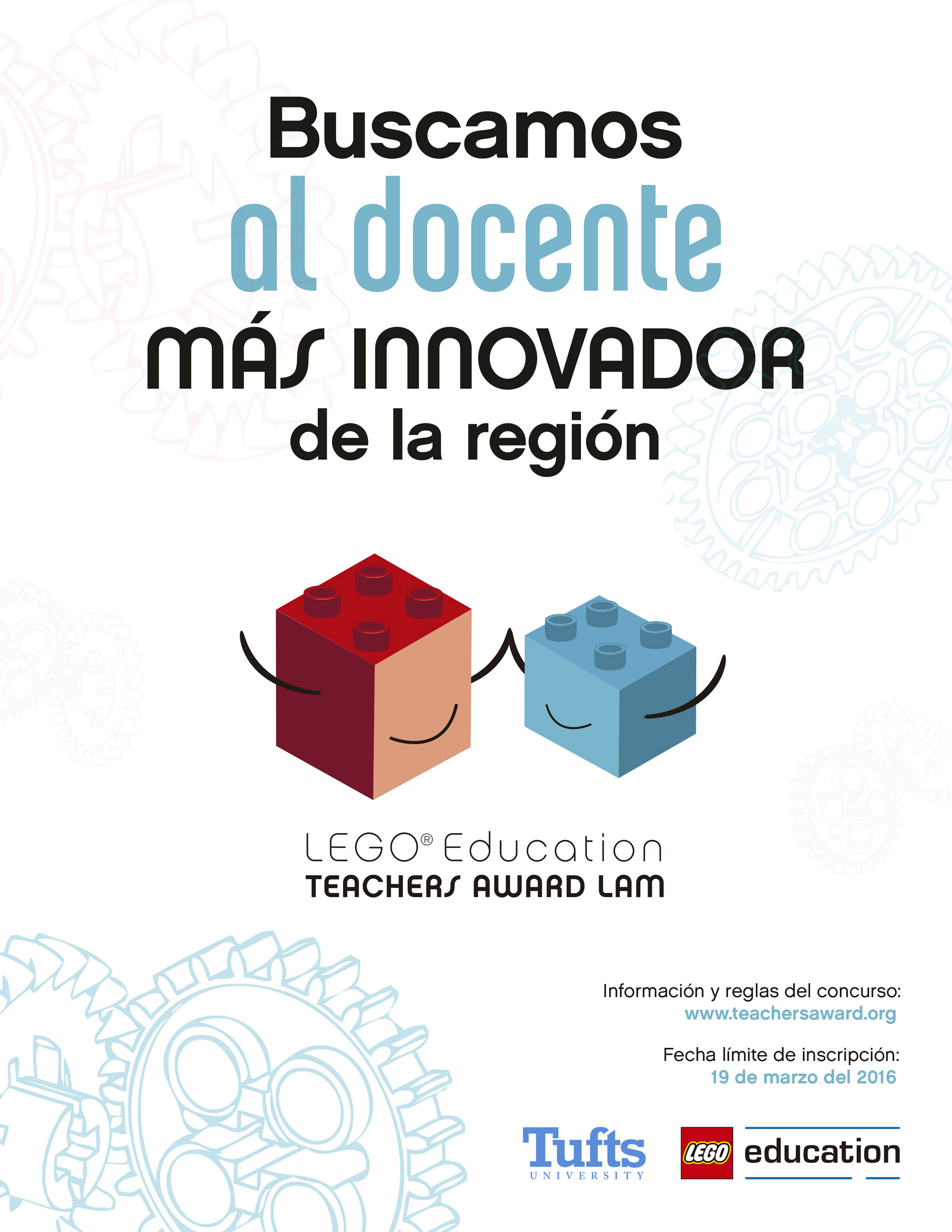 Profesor innovador: Afiche del LEGO Education Teachers Award LAM.