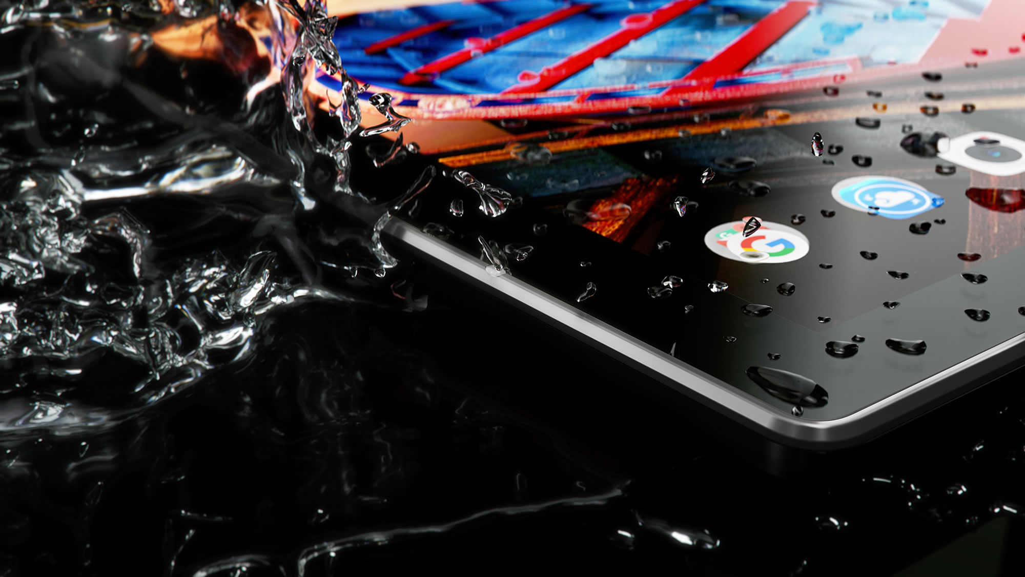 TAB3 10 Business es resistente a las salpicaduras de agua.