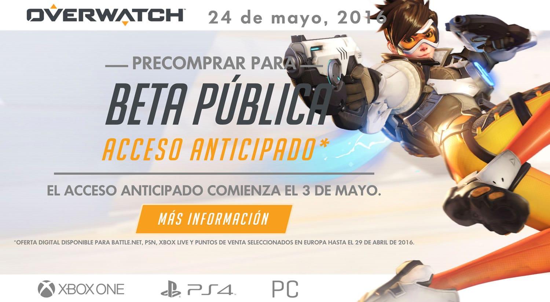 Overwatch tendrá beta abierta anticipada para quienes reserven el juego.