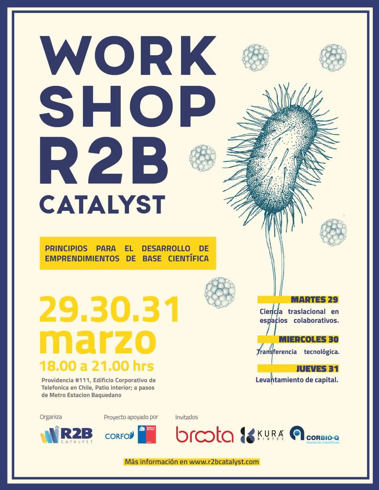 R2B Catalyst Workshop ciencia Marzo