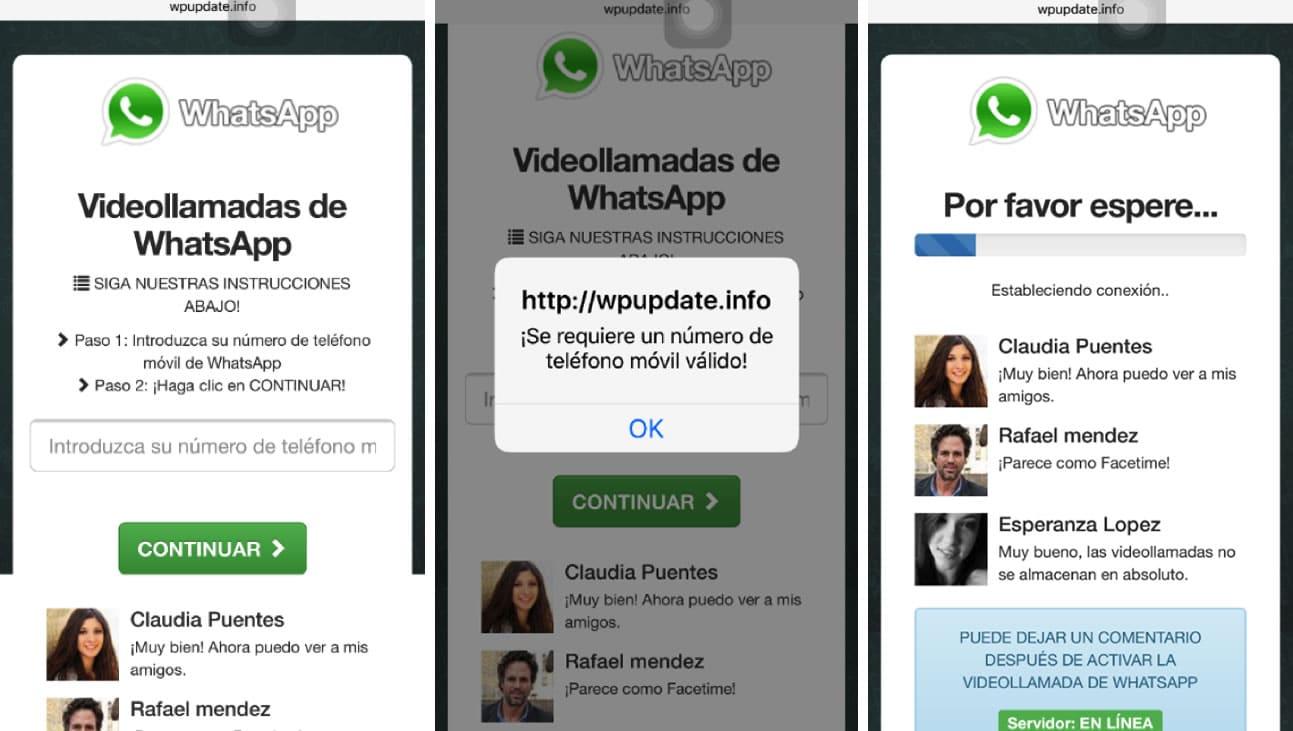 WhatsApp Video llamadas Falso Virus