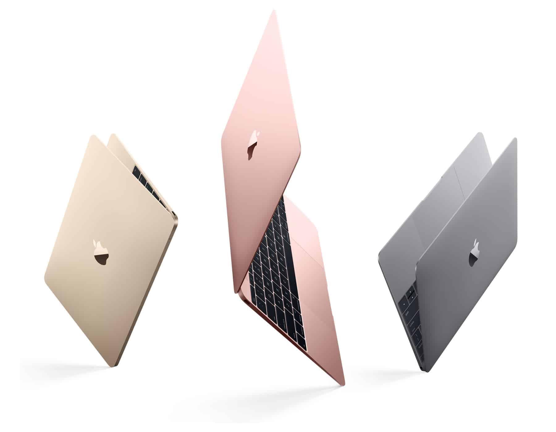 """La nueva MacBook ahora viene en color """"Gold Rose"""" (Oro Rosa)."""