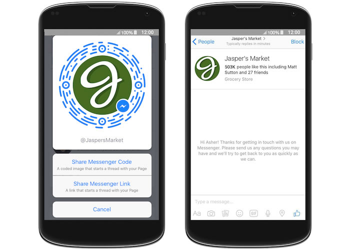 Messenger Links y Codes ayudarán a conectarse mejor a través de Facebook.