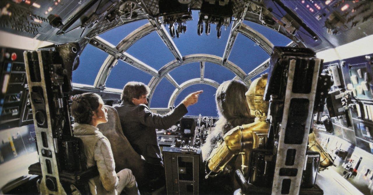 No serás Han Solo, pero sí te dará una idea de cómo es el Halcón Milenario.