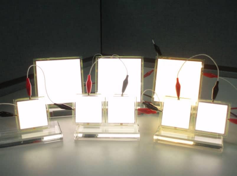 Paneles de luz OLED.