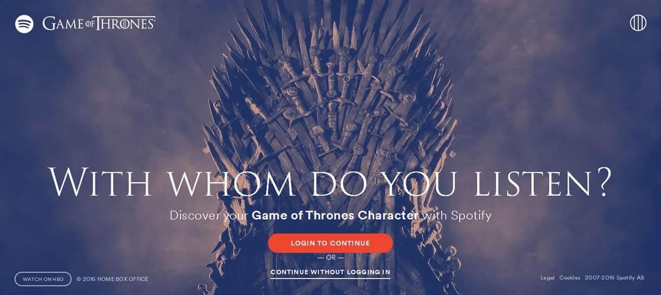 Game of Thrones en Spotify.
