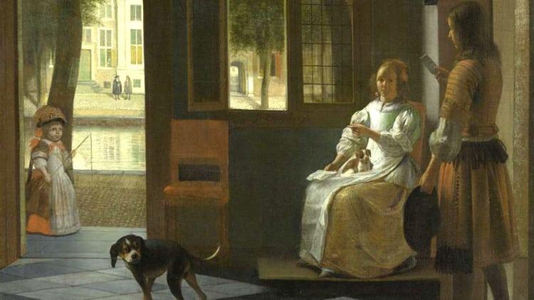 Esta es la pintura de Pieter de Hoochen donde Tim Cook vio un iPhone.