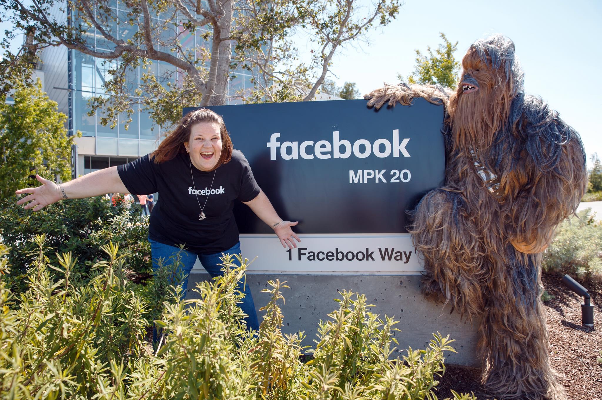 Chewbacca Mom en su visita a Facebook.
