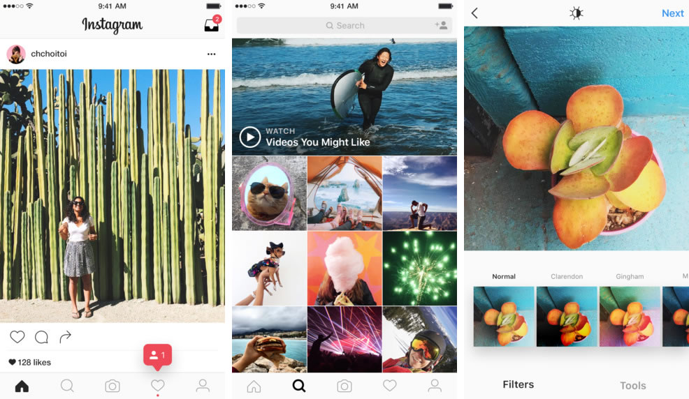 Instagram 8.0 en iOS.
