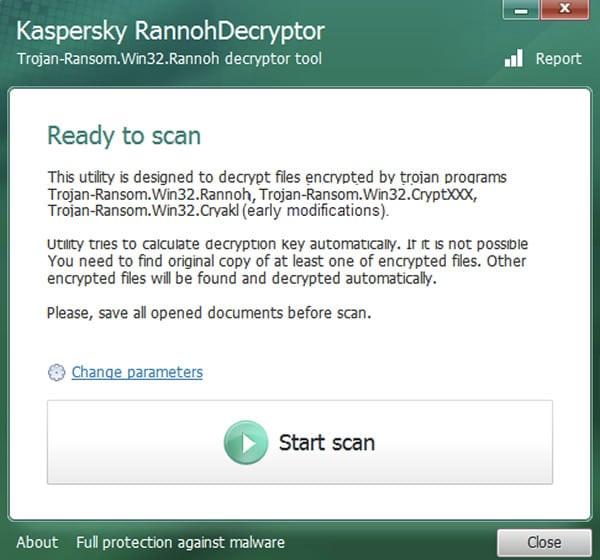 RannohDecryptor CryptXXX Kaspersky