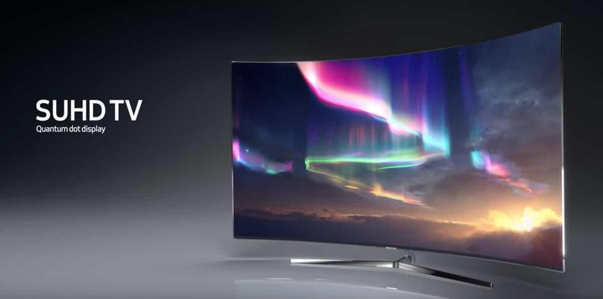 Samsung SUHD TV Quantum dot Display.