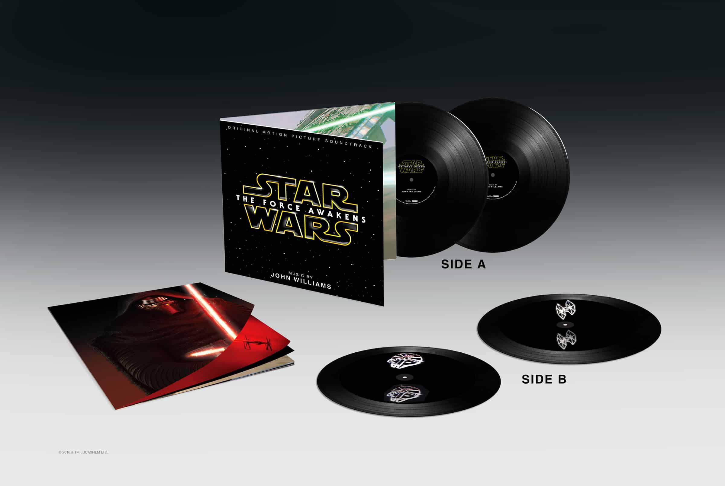 Así es el set de vinilos de The Force Awakens.