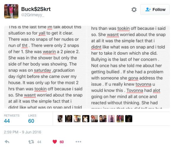 El novio de la joven dio sus explicaciones por redes sociales.