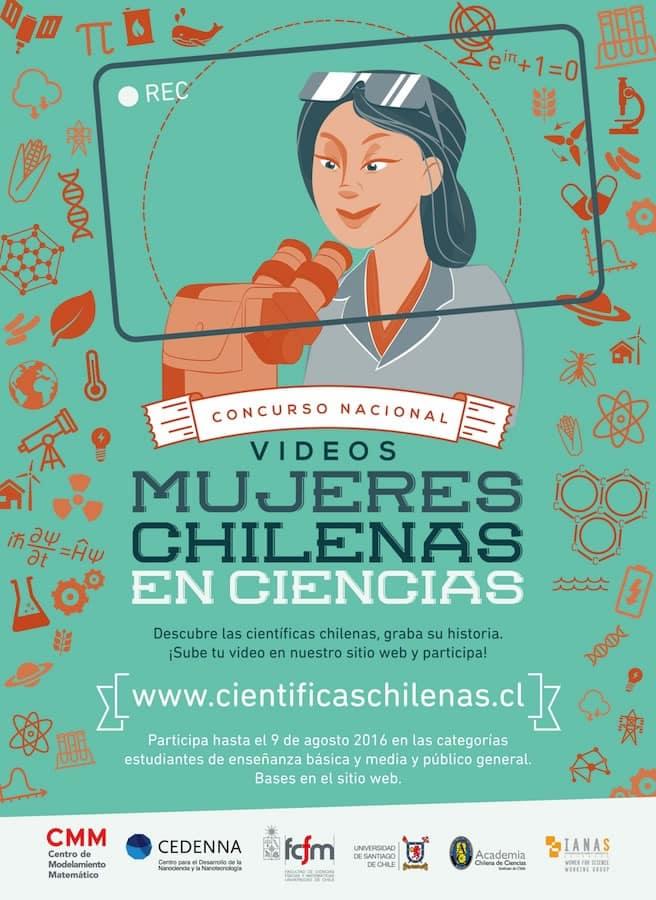 Afiche del concurso científicas chilenas.