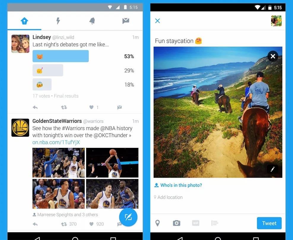 Modo noche: La App oficial de Twitter siempre ha tenido el fondo blanco.