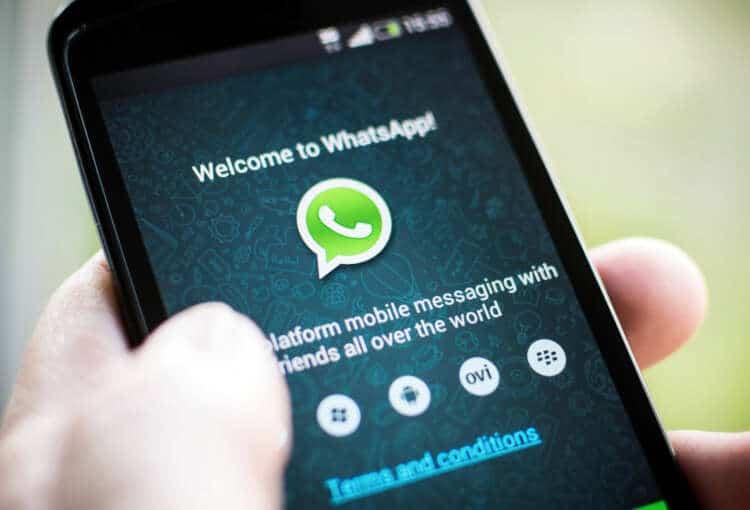 Los términos de servicio de WhatsApp los ves una vez que activas tu teléfono.