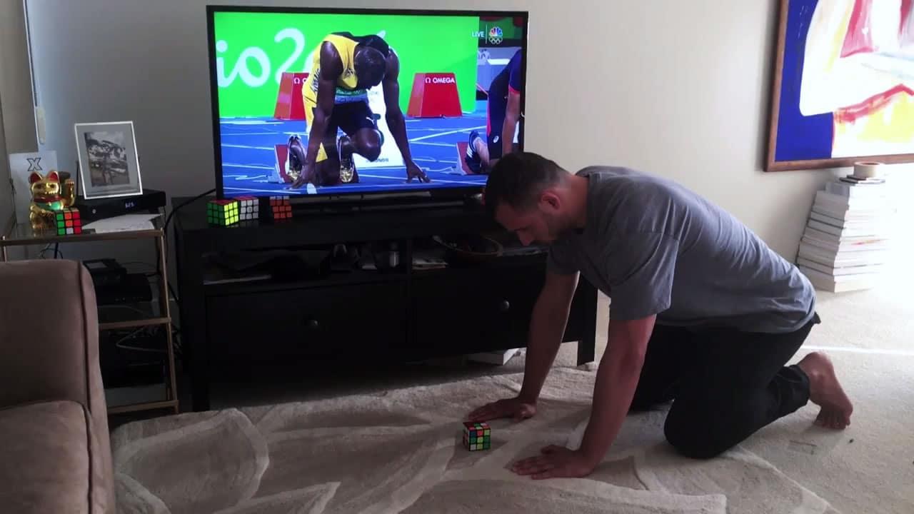 Brooks contra Usain Bolt.
