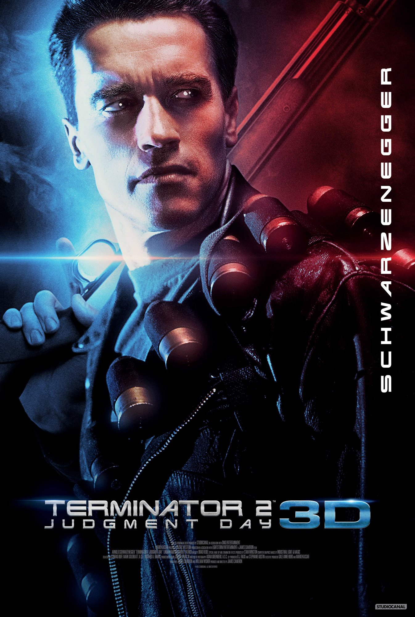 Primer póster de Terminator 2: Judgment Day 3D.
