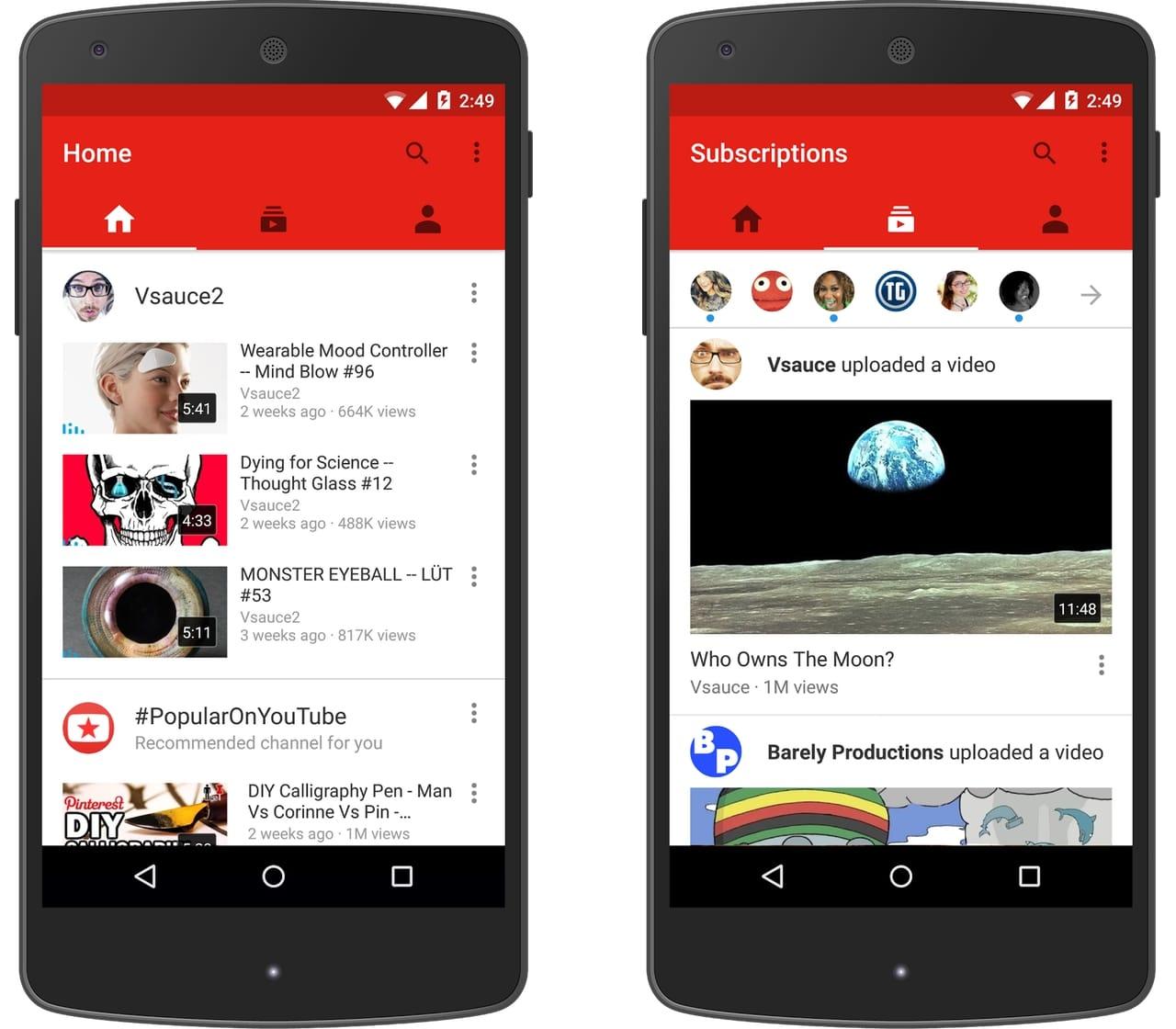 Las Apps de videos como YouTube permiten configurarlas para ahorrar datos.