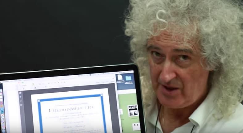 El anuncio del asteroide Freddie Mercury, fue hecho por Brian May.