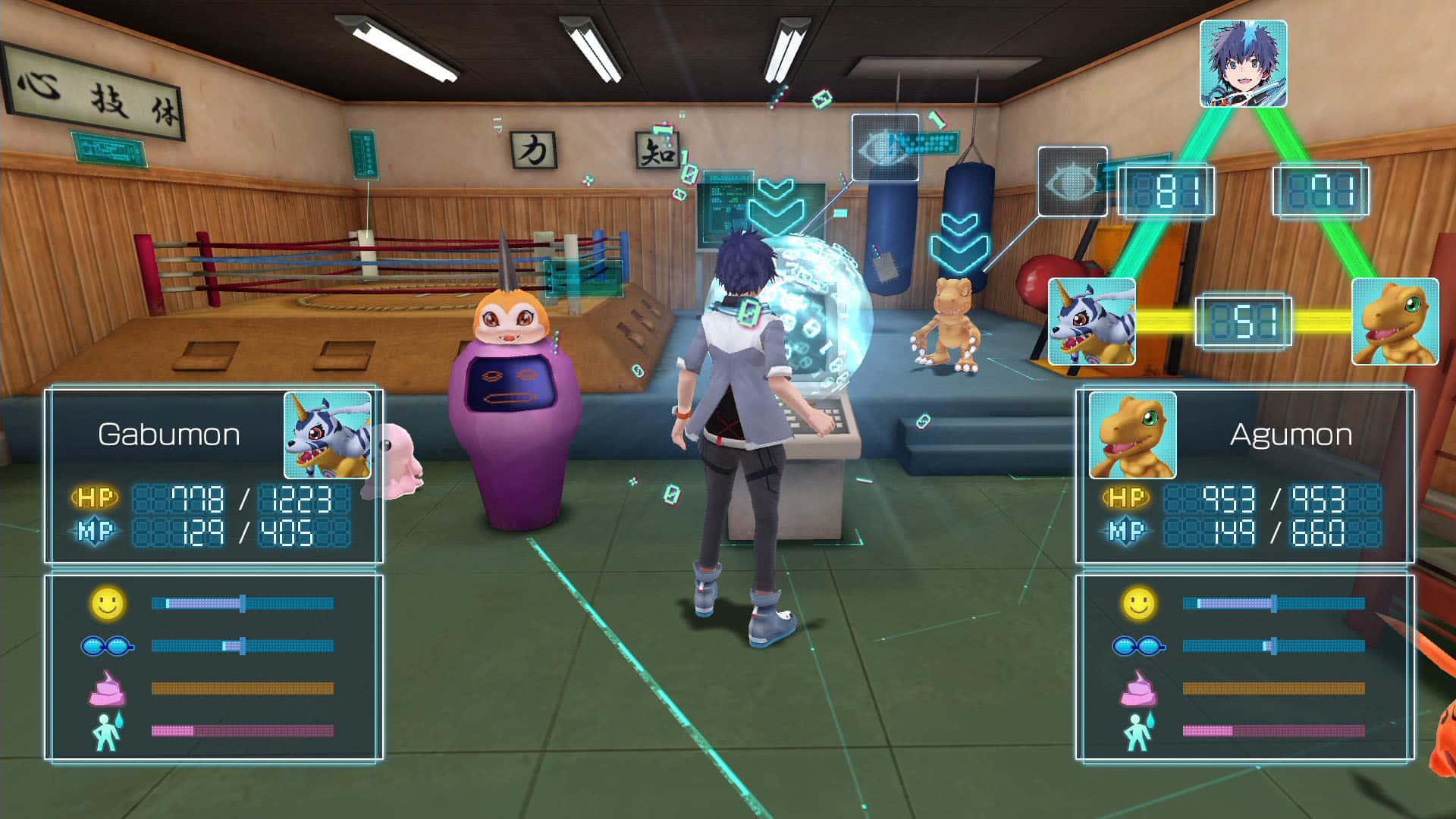 Gameplay de Digimon World: Next Order.