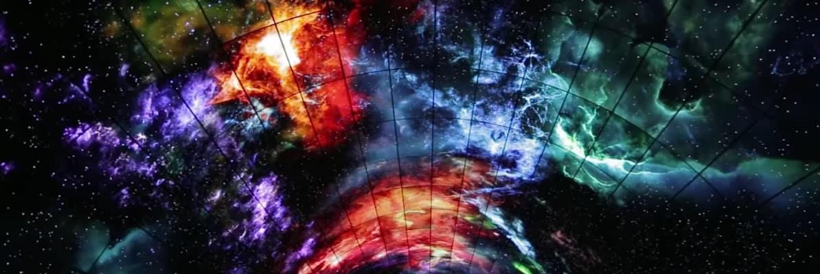 La Aurora Boreal en el túnel OLED de LG.