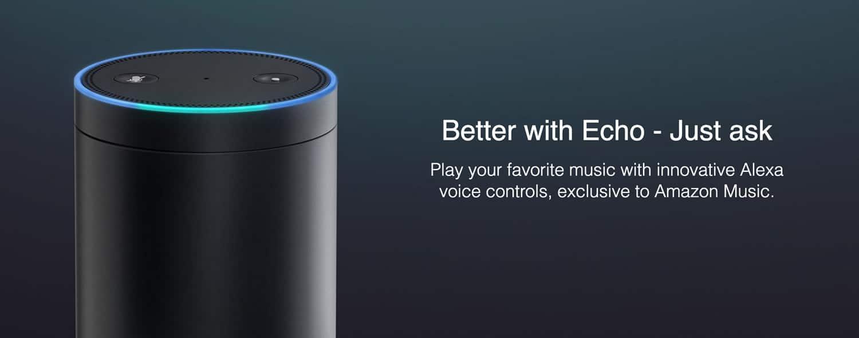 Amazon Music Unlimited puede ser controlado a través de Echo.