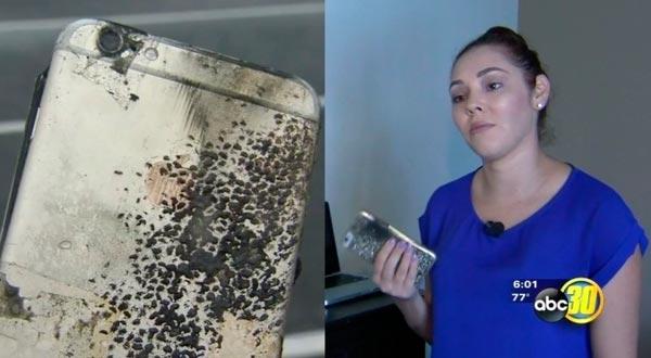 Yvette Estrada sufrió con un iPhone que se incendió espontáneamente.