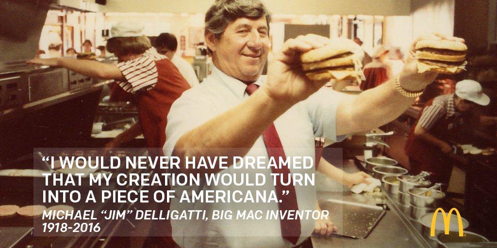 Esta imagen publicó la compañía para recordar a Jim y su Big Mac.