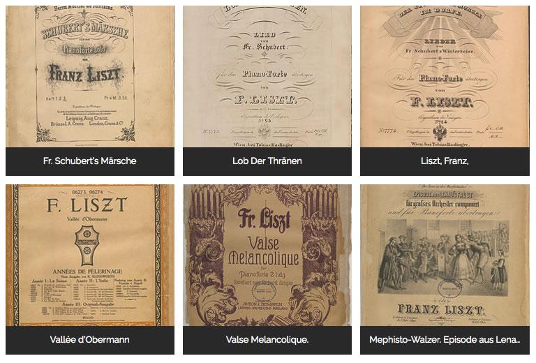 Las partituras de Claudio Arrau están en PDF.