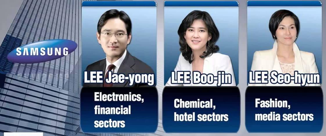 Estos son los hijos de Lee Kun-hee, parte de los dueños fundadores de Samsung.