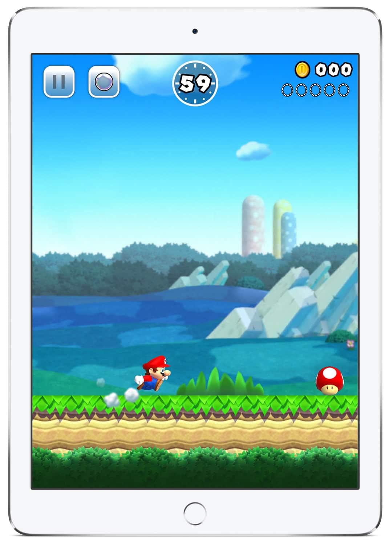 Super Mario Run estará disponible en iPhone, iPad y iPod Touch.