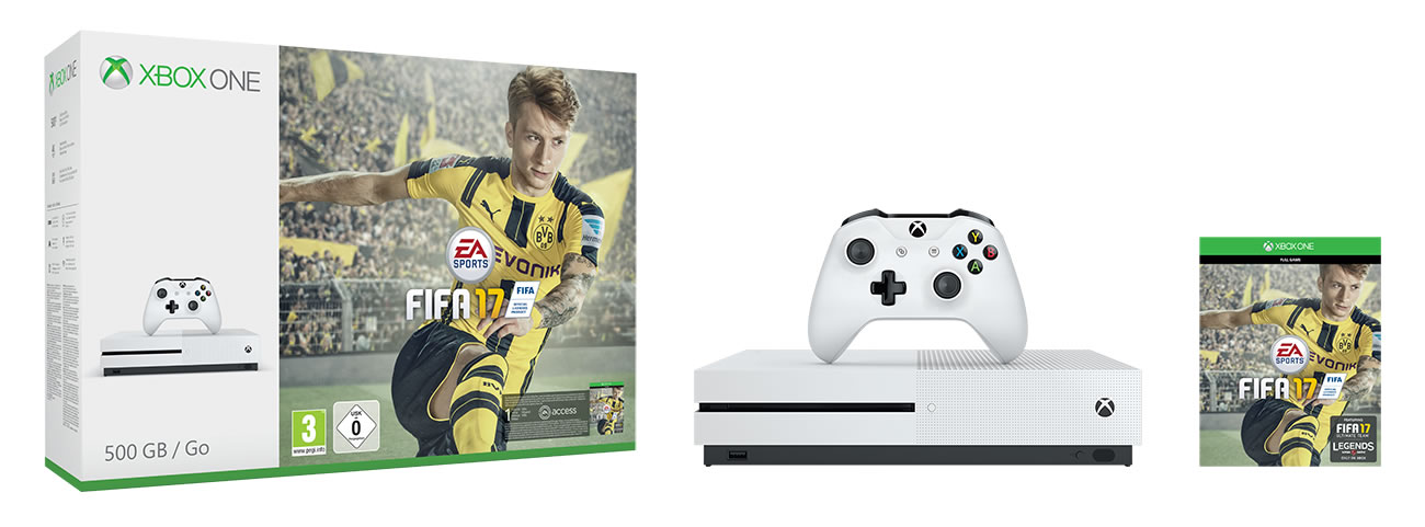 Xbox One S en Bundle de FIFA 17.