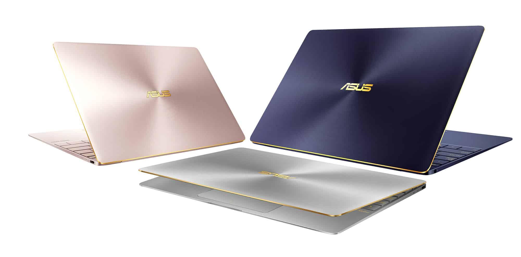 ASUS Zenbook 3 estará disponible en 3 colores.