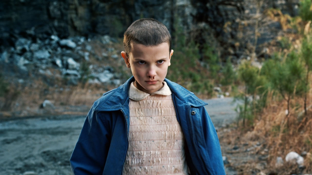 Millie Bobby Brown como 'Eleven' (11) de Stranger Things.
