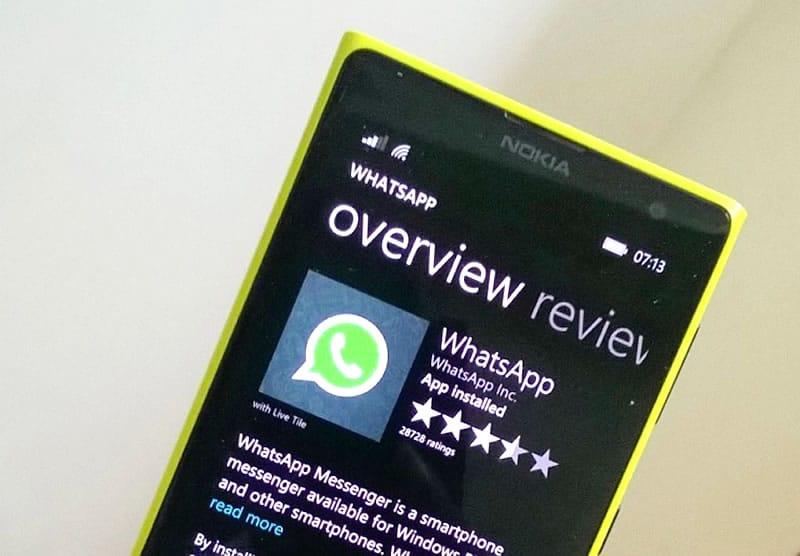 Windows Phone 7 dice adiós para siempre a WhatsApp.