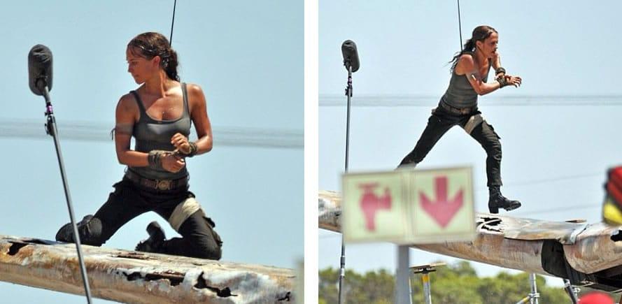Alicia Vikander como Lara Croft.
