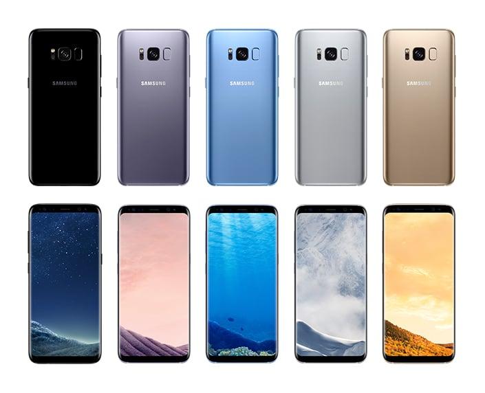 Colores del Galaxy S8.