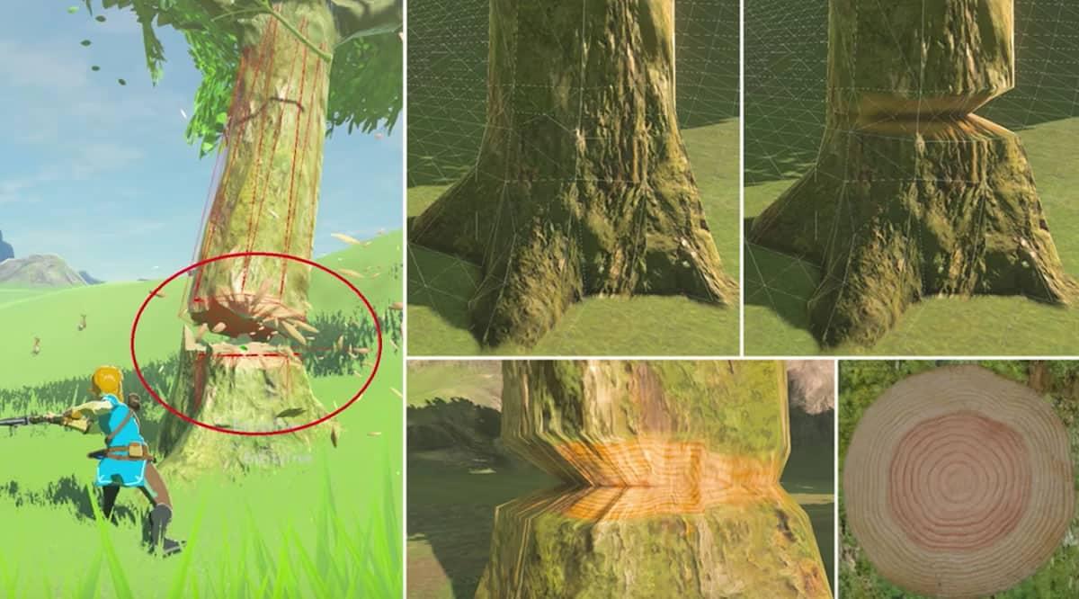 Los videos incluyen detalles del arte en cada acción dentro de Breath of the Wild.