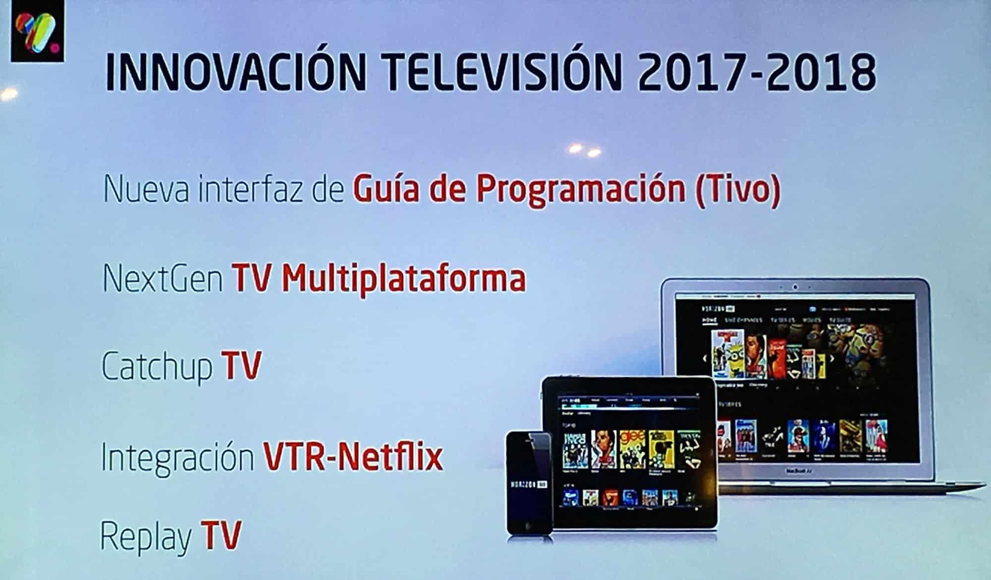Planes de VTR en Televisión 2017-2018 que incluyen a 'EOS'.