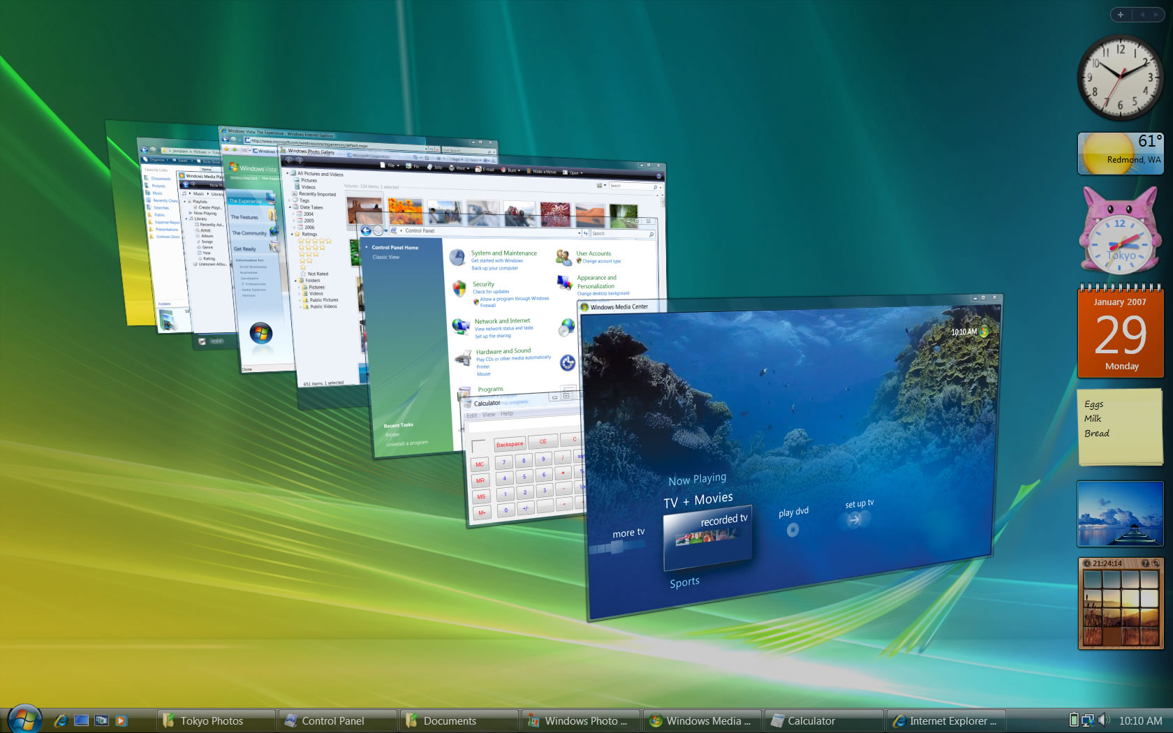Escritorio de Windows Vista.