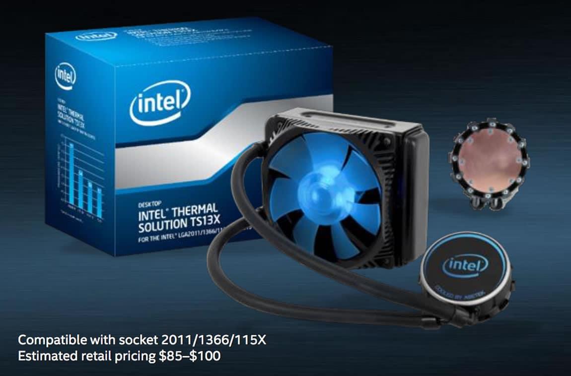 Refrigeración líquida compatible con el Core i9.