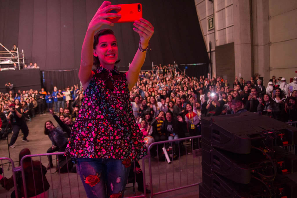 Millie Bobby Brown en Comic Con Chile 2017.