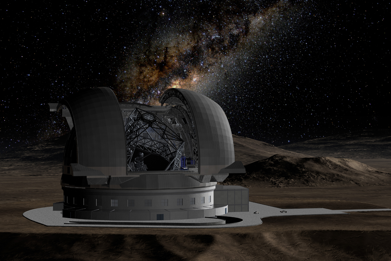 Representación del Extremely Large Telescope.