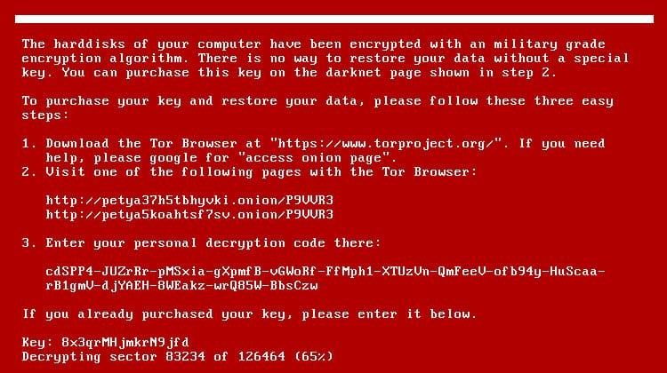 Mensaje que el ransomware entrega en el equipo infectado.