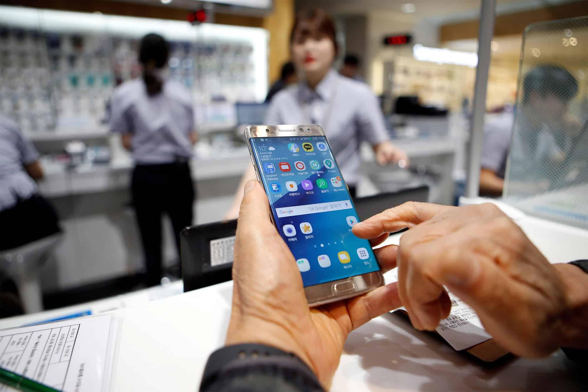 Los robos fueron realizados desde una planta de producción de Samsung.