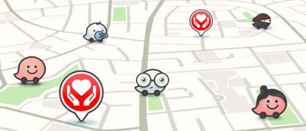 Mapa de la App en caso de solicitar ayuda.