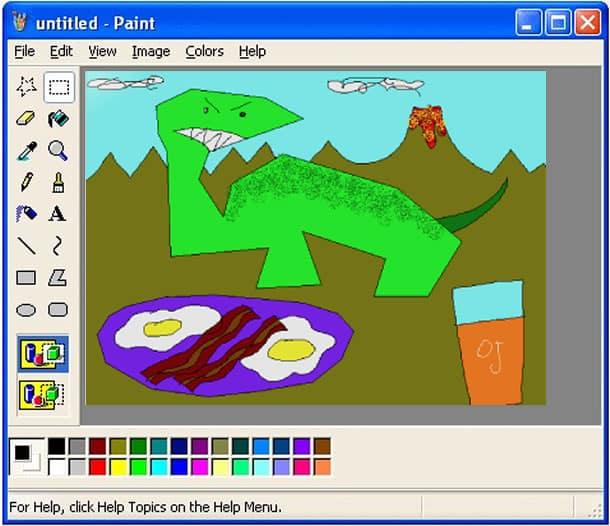 Probablemente todos tus dibujos de Paint fueron así.