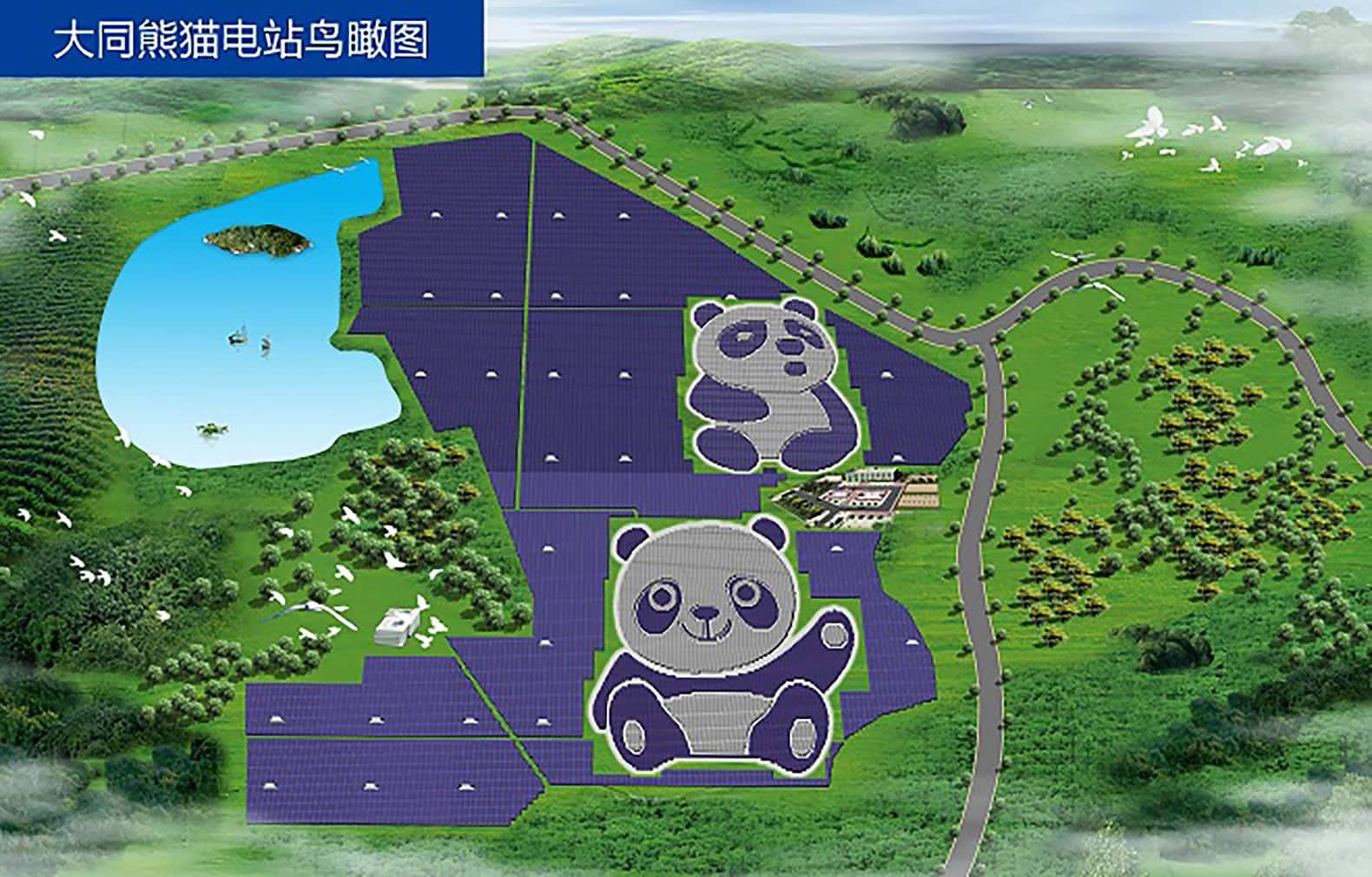 """El proyecto contempla instalar más """"Pandas solares""""."""