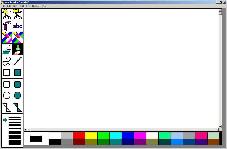Clásico Paint en Windows.